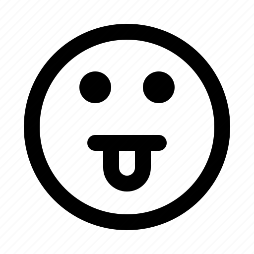 emoji, emoticon, emotion, expression, face, tease icon