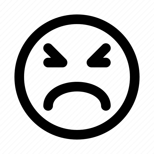 emoji, emoticon, emotion, expression, face, upset icon