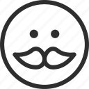 25px, iconspace, mustache icon