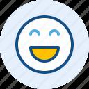 emoticon, expression, happy, mood