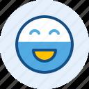 beard, emoticon, expression, happy, mood