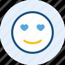 emoticon, expression, love, mood