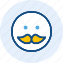 emoticon, expression, mood, mustache