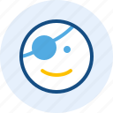 emoticon, expression, mood, pirates icon