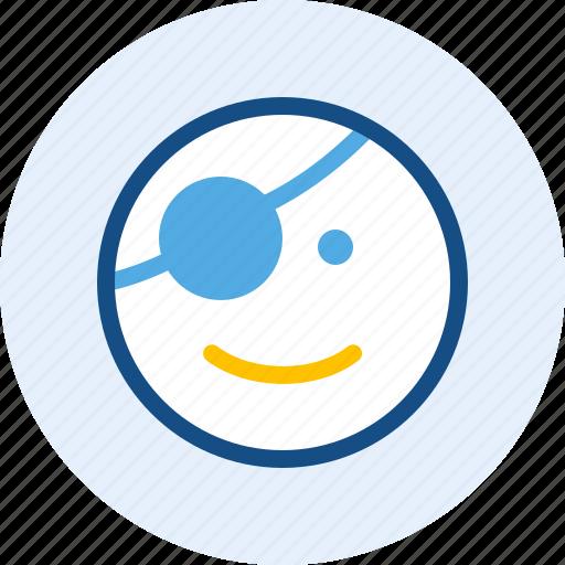 emoticon, expression, mood, pirates icon
