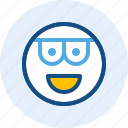 emoticon, expression, mood, smart icon