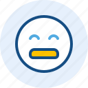 emoticon, expression, mood, tired icon