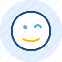 emoticon, expression, mood, wink