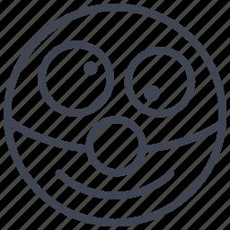 clown, emoticon, emotion, face, smile, smiley icon