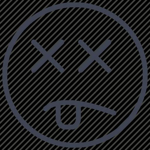 Dead, emoticon, emoticons, emotion, face, smiley icon - Download on Iconfinder