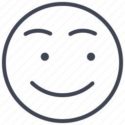 emoticon, emotion, expression, face, looking, smile, smiley icon
