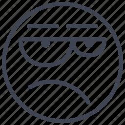 emoticon, emotion, expression, face, meh, smiley icon