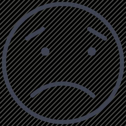 emoticon, expression, face, sad, smiley icon