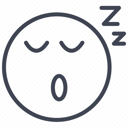 emoticon, emotion, expression, face, sleeping icon