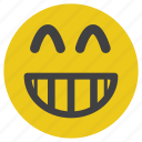 emoticon, laugh, smile, smiley icon