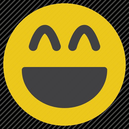 emoticon, laugh, smile, smiley icon