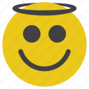 angel, emoticon, smiley icon
