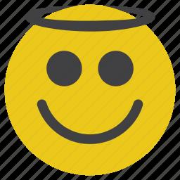 angel, emoticon, smiley icon