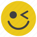 blink, emoticon, happy, smiley icon