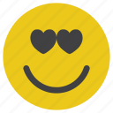 emoticon, love, lovely, smiley icon