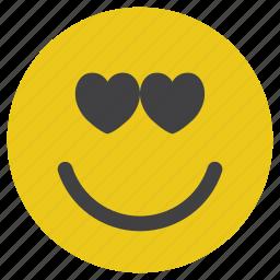 emoticon, love, lovely, smiley icon