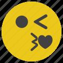 blink, emoticon, kiss, love, smiley icon