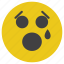 cry, emoticon, sad, smiley icon