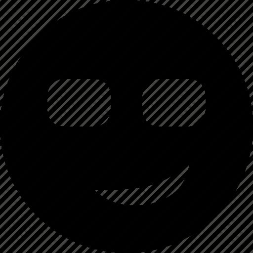 cool, emoticon, emotion, face, smile, smiley icon