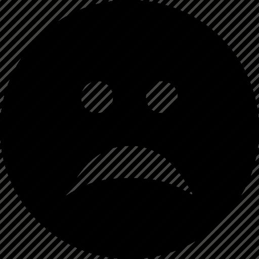 bad, depressed, desperate, emoticon, emotion, face, sad, smiley icon