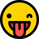 emoji, emoticon, expression, face, laughing, smiley icon