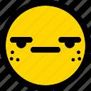 suspect, emoticon, smiley, expression, emoji, face