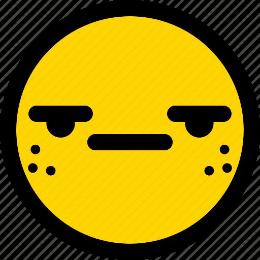 emoji, emoticon, expression, face, smiley, suspect icon
