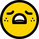 emoji, emoticon, expression, face, sad, smiley icon