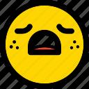 sad, emoticon, smiley, expression, emoji, face