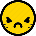 emoji, emoticon, expression, face, furious, smiley icon