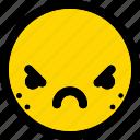 furious, emoticon, smiley, expression, emoji, face
