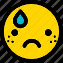 emoji, emoticon, expression, face, sad, smiley icon