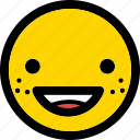 emoji, emoticon, expression, face, smile, smiley icon