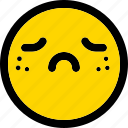 depression, emoji, emoticon, expression, face, smiley icon