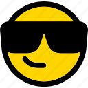 emoji, emoticon, expression, face, smiley, sunglasses icon