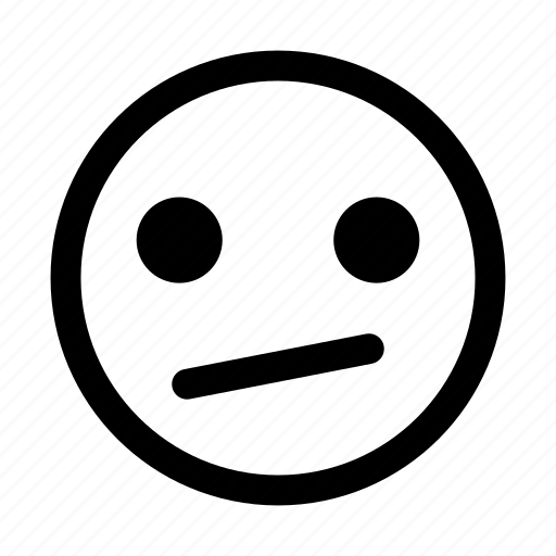 awkward, confused, emoticon, smiley, uncertain, unsure icon