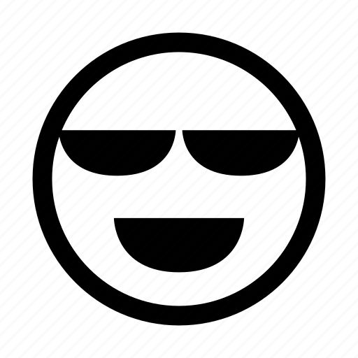 cool, emoticon, glares, goggles, happy, shades, show off icon