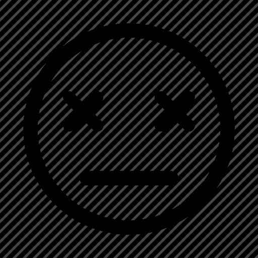 dead, deceased, departed, died, emoticon, numb icon