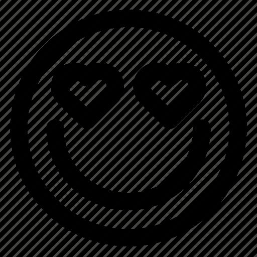 avatar, emoji, emoticons, emotion, love, smile, smiley icon