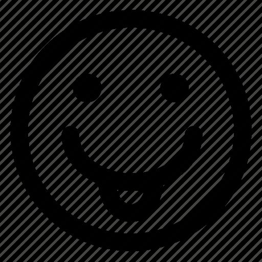 avatar, emoji, emoticons, emotion, smile, smiley, tongue icon
