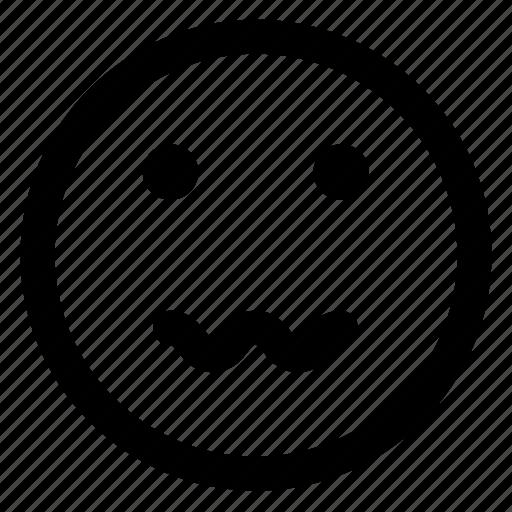 avatar, emoji, emoticons, emotion, nervous, smile, smiley icon