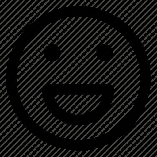 avatar, cheerful, emoji, emoticons, emotion, smile, smiley icon