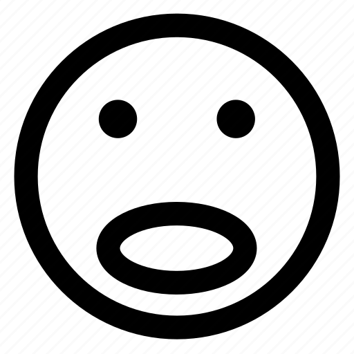 avatar, emoji, emoticons, emotion, smile, smiley, surprise icon