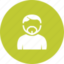 face, french, goatee, looking, man, portrait, rugged icon