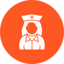 doctor, girl, healthcare, medical, nurse, uniform, work icon